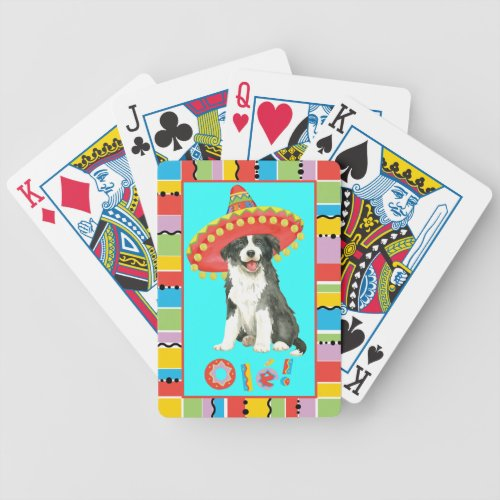 Fiesta Border Collie Bicycle Playing Cards