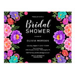 Fiesta Bridal Shower Invitation Postcard
