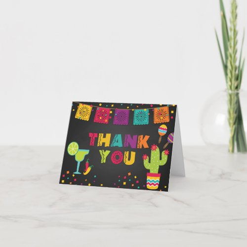 Fiesta Thank You Card