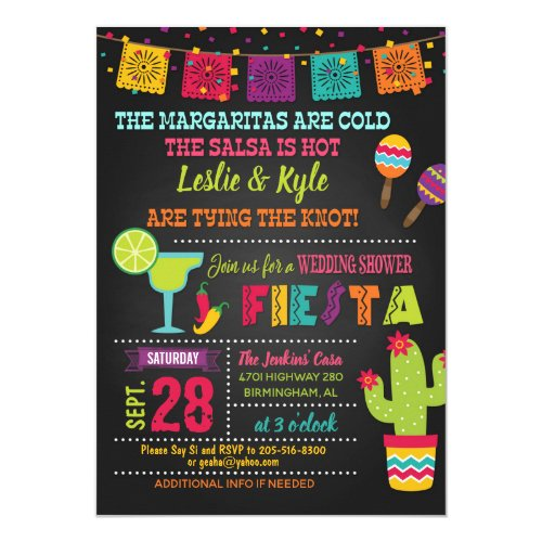 Fiesta Wedding Shower Invitation