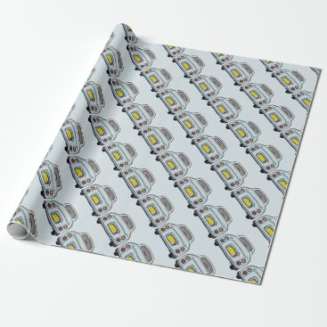 Figarations Pale Aqua Blue Figaro Car Traffic Wrapping Paper