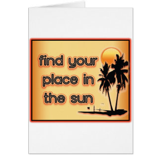 Find Your Place In The Sun Cards