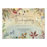 FINE FALL | Watercolor Thanksgiving Dinner Party Invitation