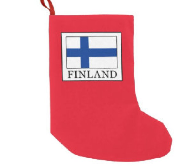 Finland Small Christmas Stocking