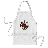 Firefighter Fire and Rescue Department Emblem Aprons
