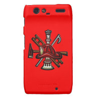 Firefighter Fire and Rescue Department Emblem Motorola Droid RAZR Covers