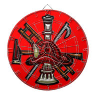 Firefighter Fire and Rescue Department Emblem Dartboards