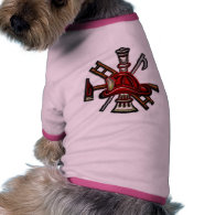 Firefighter Fire and Rescue Department Emblem Doggie Shirt
