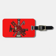 Firefighter Fire and Rescue Department Emblem Tag For Bags