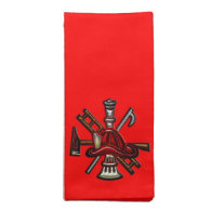 Firefighter Fire and Rescue Department Emblem Cloth Napkin