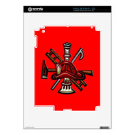Firefighter Fire and Rescue Department Emblem Decals For The iPad 2