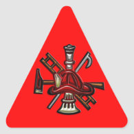 Firefighter Fire and Rescue Department Emblem Triangle Sticker