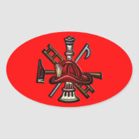 Firefighter Fire and Rescue Department Emblem Stickers