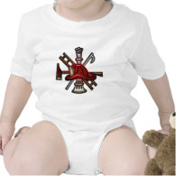 Firefighter Fire and Rescue Department Emblem Baby Bodysuit