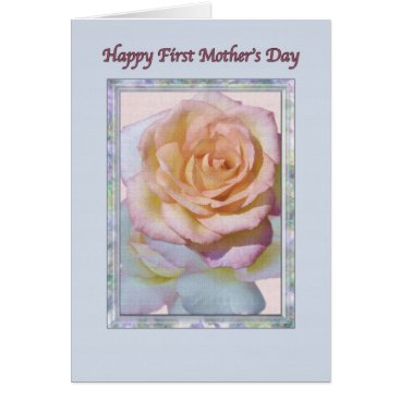 First Mother's Day Card with Peace Rose