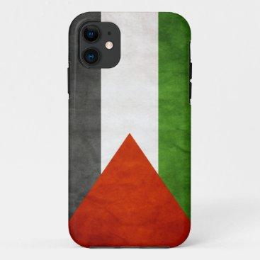 Flag of Palestine - Grunge iPhone 11 Case