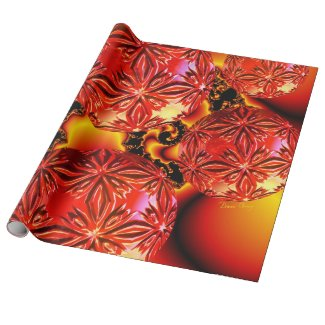 Flame Delights, Abstract Crimson Red Fire Gift Wrapping Paper