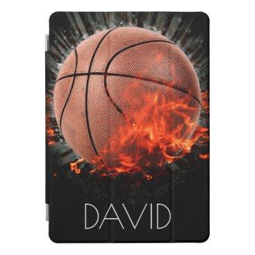 Flaming Basketball iPad Pro Cover