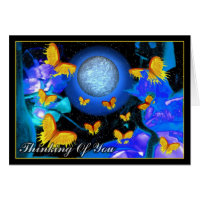 Flaming Butterflies - Thinking Of You Card