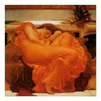 Flaming June Fine Art Print print