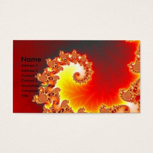 Flaming Tentacle - Fractal Art Business Card