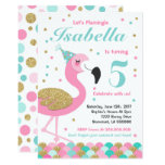 ❤️ Flamingo Birthday Invitation Topical Pool Party