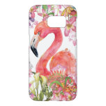 ❤️Flamingo in Flower Jungle - Summer Pattern Samsung Galaxy S7 Case