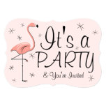 ❤️ Flamingo Pink 'Party' invitation bracket