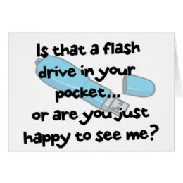 Anytime - Flash Drive Greeting Card