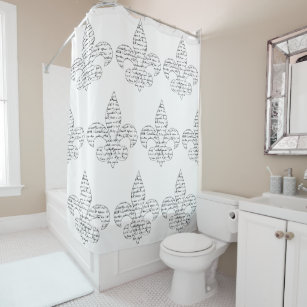 french script shower curtains zazzle