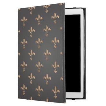 """Fleur de lis, vintage,elegant,chic.classy,pattern, iPad pro 12.9"""" case"""
