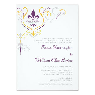 Fresh Fleur De Lis Wedding Invitations 81 With Additional Unique