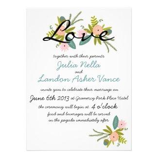 Flora and Fauna Invitation