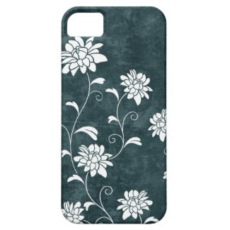Floral damask blue & white flowers girly chic iPhone 5 cases