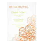 Floral Lace Bridal Shower Invitation | orange