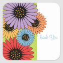 Floral Rainbow Favor Sticker