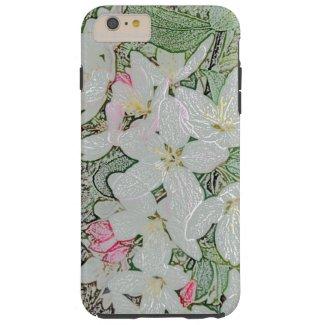 Floral Spring Flowers White Flower Art Nouveau Tough iPhone 6 Plus Case