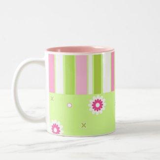 Floral stripes - Mug