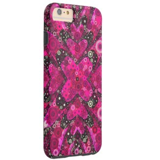 Florescent Pink Black Abstract iPhone6 Plus Case