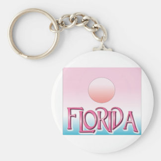 Florida Airbrush Sunset Keychain