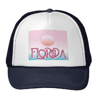 Florida Airbrush Sunset Mesh Hats