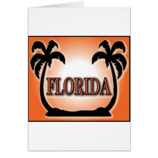 Florida Airbrushed Look Orange Sunset Palm Trees Cards