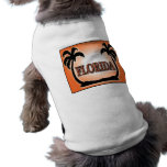 Florida Airbrushed Look Orange Sunset Palm Trees pet clothing