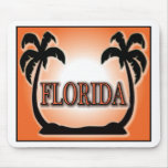 Florida Airbrushed Look Orange Sunset Palm Trees mousepads