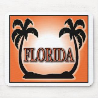 Florida Airbrushed Look Orange Sunset Palm Trees Mousepads