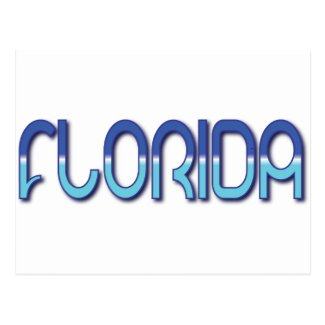 Florida - Blue Gradient Postcard