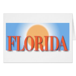 Florida Blue & Orange Sunset Greeting Card