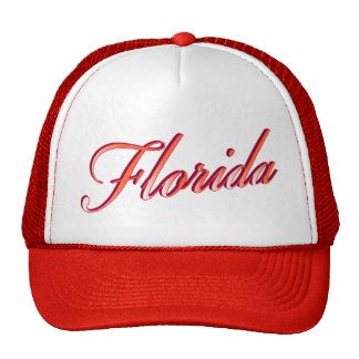 Florida Elegant Script Trucker Hats