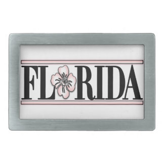 Florida Hibiscus Flower Belt Buckle
