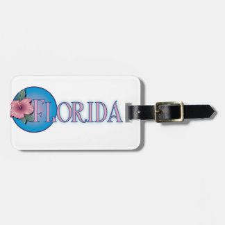 Florida Hibiscus Pink & Blue Bag Tags